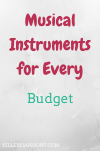 Killer Harmony | Musical Instruments for Every Budget | You can find musical instruments at every budget and price range. It can get expensive, but there are cheaper options available if your budget is small.