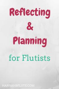 Hannah B Flute | Reflecting & Planning
