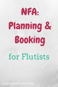 Hannah B Flute | NFA: Planning & Booking