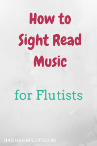 Hannah B Flute | How to Sight Read
