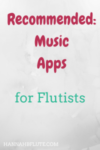 Hannah B Flute | Recommended: Music Apps