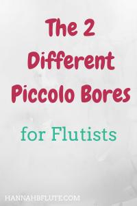Hannah B Flute | Piccolo Bores