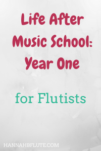 Hannah B Flute | Life After Music School