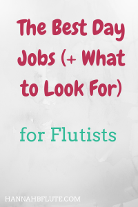 Hannah B Flute | The Best Day Jobs for Musicians