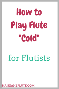 "Hannah B Flute | How to Play Flute ""Cold"""