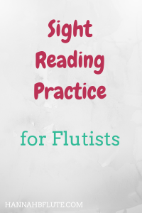 Hannah B Flute | Sight Reading Practice