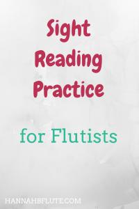 Hannah B Flute | Sight Reading Practice