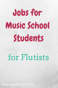 Hannah B Flute | Jobs for Music School Students