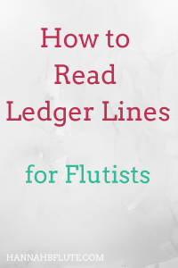 Hannah B Flute | How to Read Ledger Lines