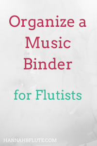Hannah B Flute | How to Organize a Music Binder