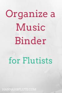 Hannah B Flute | How to Organize a Music Binder