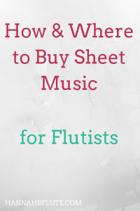 Hannah B Flute | Should You Buy Sheet Music Online or In Store?