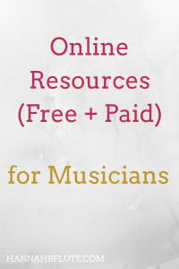 Online Resources for Flute Students | Hannah B Flute