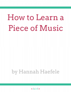 How to Learn a Piece of Music | Hannah B Flute