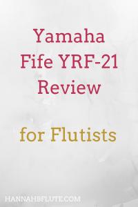 Yamaha Flute Review: Fife YRF-21