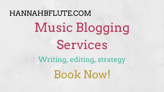 Music Blogger & Writer | Hannah B Flute