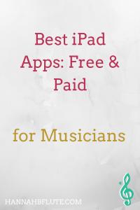 Best iPad Apps for Musicians | Hannah B Flute