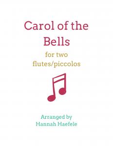 Carol of the Bells flute duet | Hannah B Flute