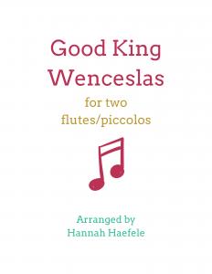 Good King Wenceslas flute duet | Hannah B Flute
