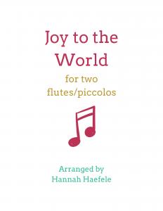 Joy to the World flute duet